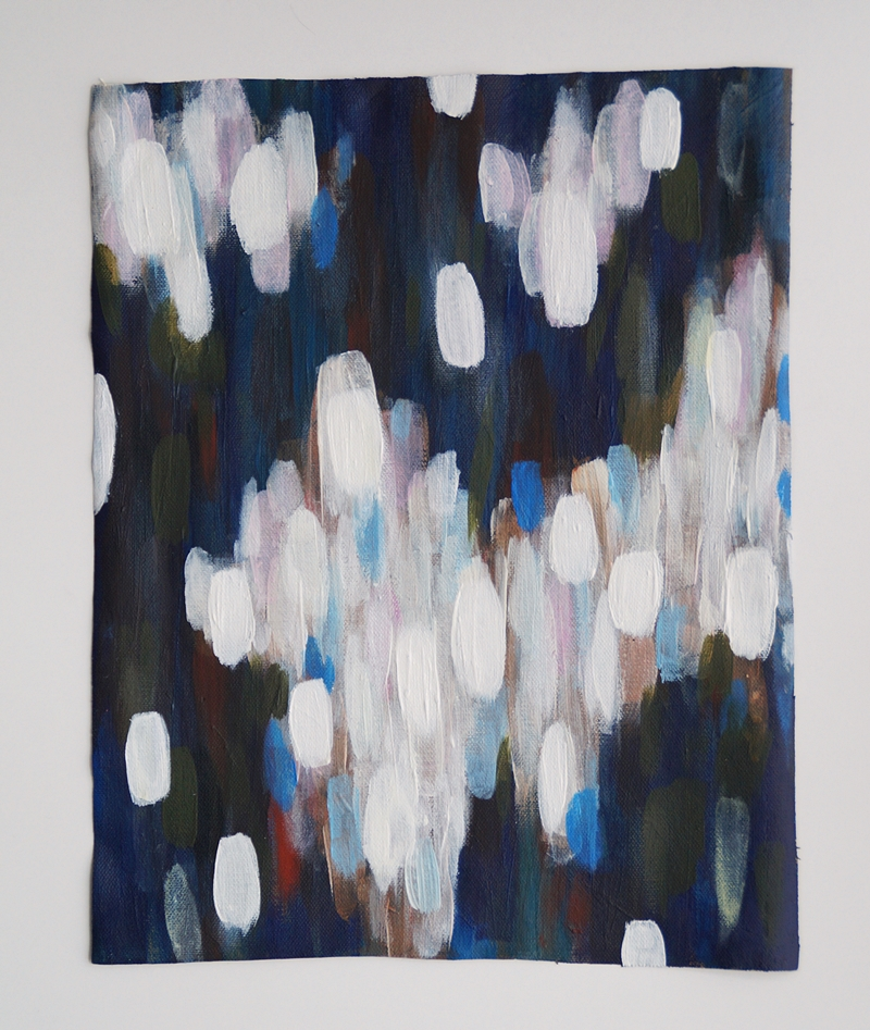 Abstrakte Malerei blau weiß Kunst günstig original online kaufen