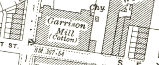 Garrison Mill, OS map, 1929.