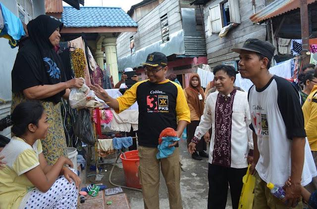 Bantu Korban Banjir, PKS Binjai Gelar Aksi Sosial