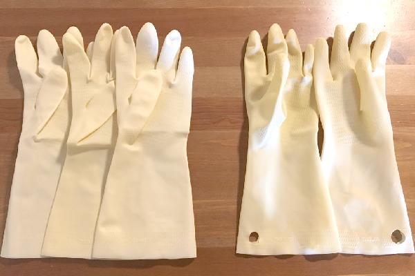 左手ばっかり余っていくゴム手袋