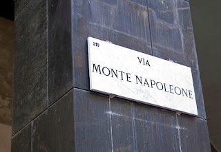 The Via Monte Napoleone is Milan's most famous street for big-name fashion houses