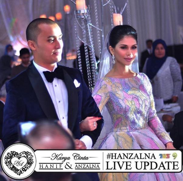 Gambar majlis perkahwinan Anzalna Nasir dan Hanif Zaki