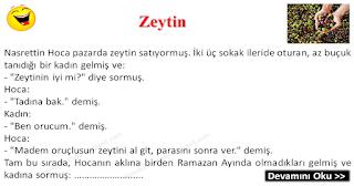Zeytin - Nasrettin Hoca Fıkraları - Komikler Burada