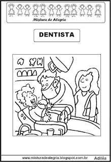 Desenho de dentista para colorir