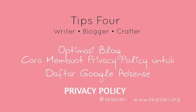Cara Simple Membuat Halaman Privacy Policy Untuk Daftar Google Adsense