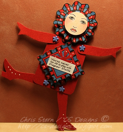 You're never too old Paper Art Doll