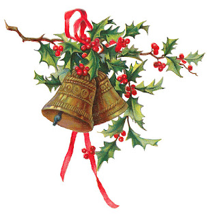 christmas holly bells clip art