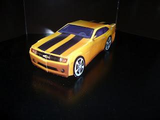 maqueta de papel del coche bumblebee de transformers