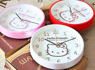 Gambar Jam Dinding Hello Kitty 8