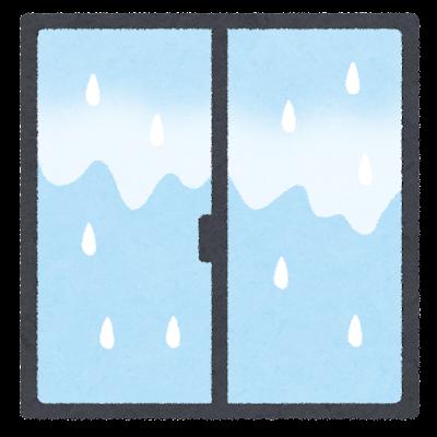 窓の結露のイラスト