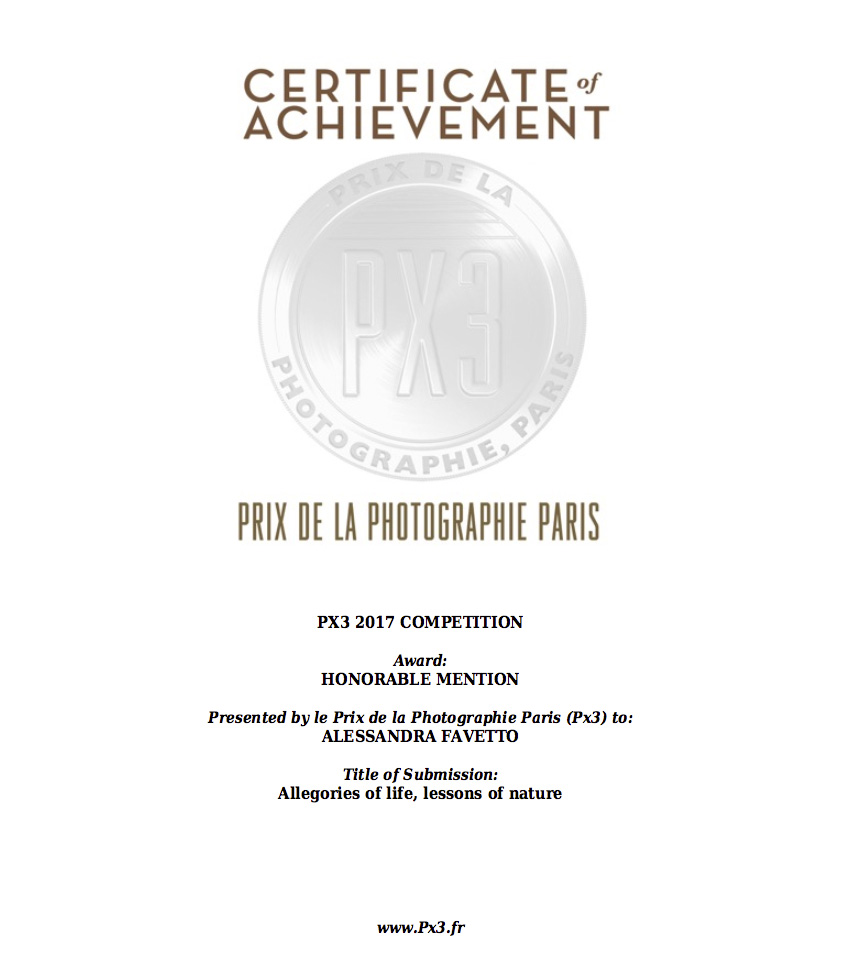 Alessandra Favetto Honorable mention Px3 Prix de la Photographie Paris