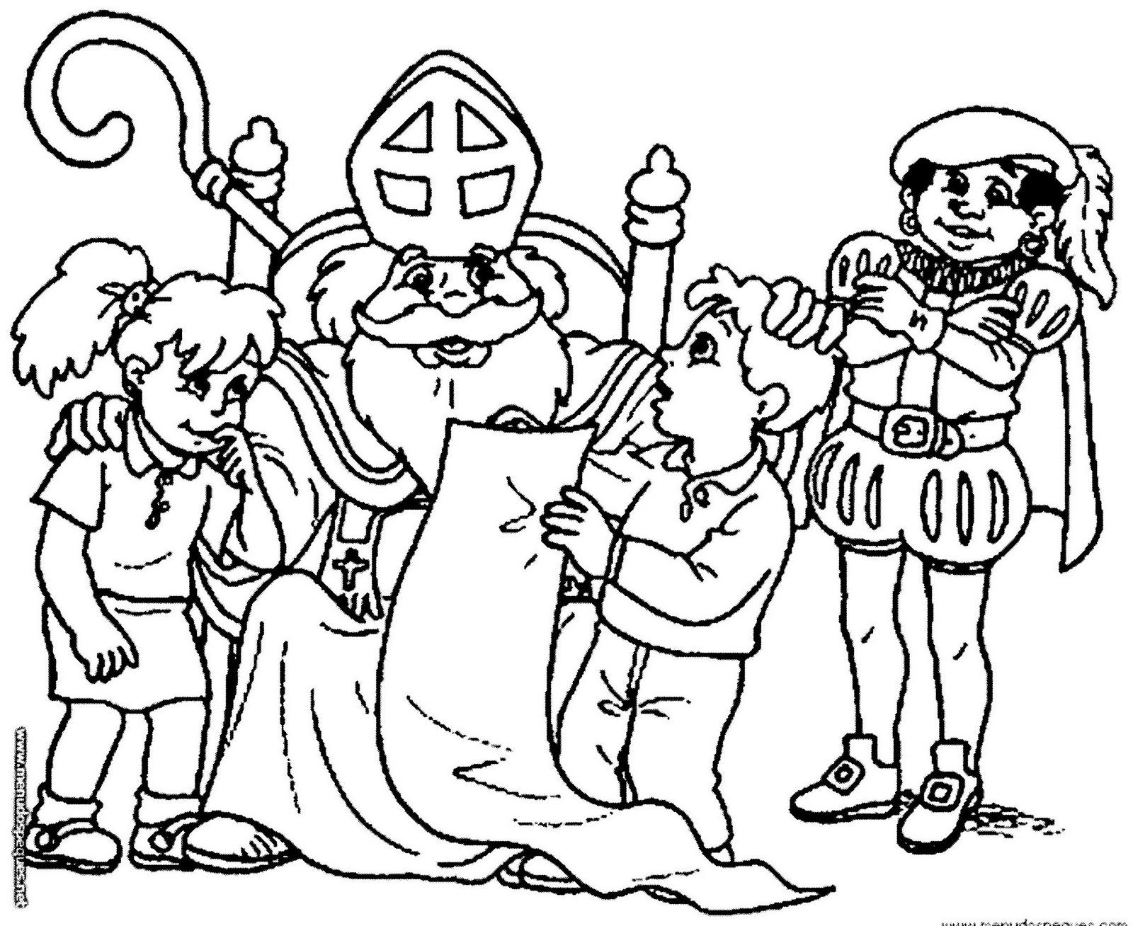 Dibujos De Navidad Del Olentzero.Baul De Navidad San Nicolas Colorear Dibujos