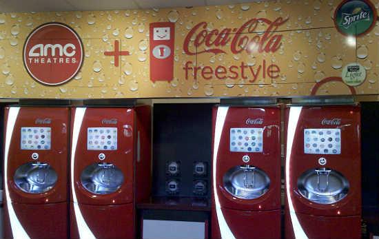 Máquinas para refil do copo Coke Freestyle na Universal Orlando