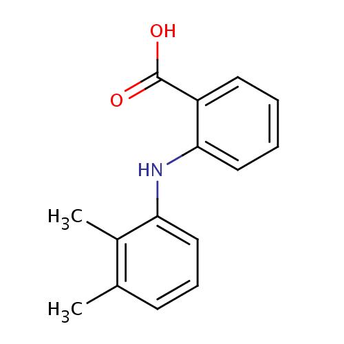 Struktur Kimia Asam Mefenamat
