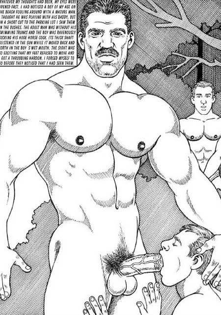 cartoon muscle gay