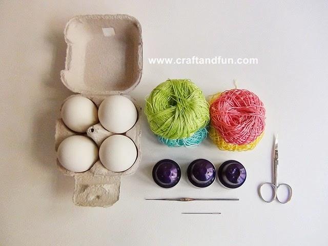 Riciclo creativo craft and fun decorazioni di pasqua for Riciclo creativo per la casa