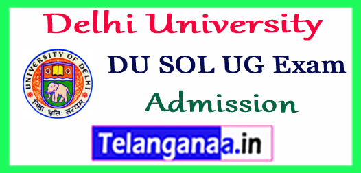 DU Delhi University SOl Admission BA B.Com Demand Letter 2018-19