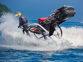 水上人力車(素材使用)