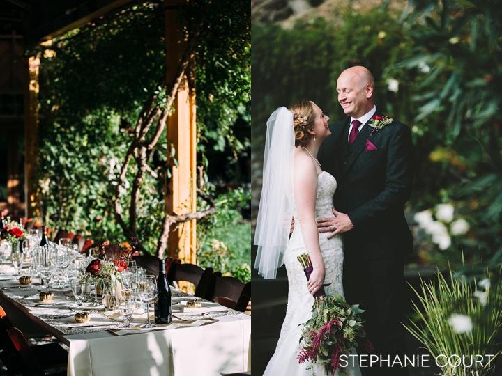 romantic fall wedding photography