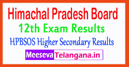 Himachal Pradesh 12th Class Results HP Board SOS Plus Two Result 2017