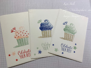 Birthday card using Hello Cupcake stamp set. Celebrate Your Day