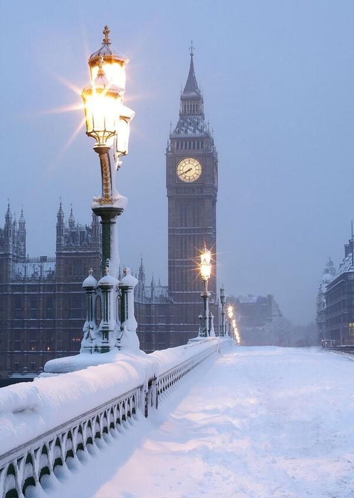 big ben winter Mobile wallpaper