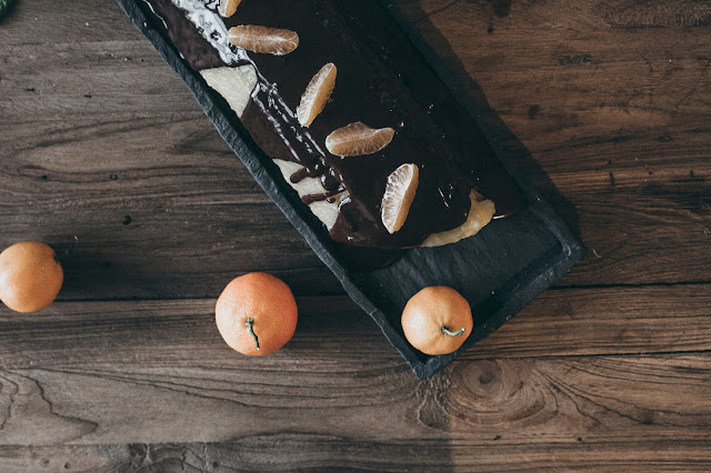 Bûche chocolat & clémentines / Holidays #5