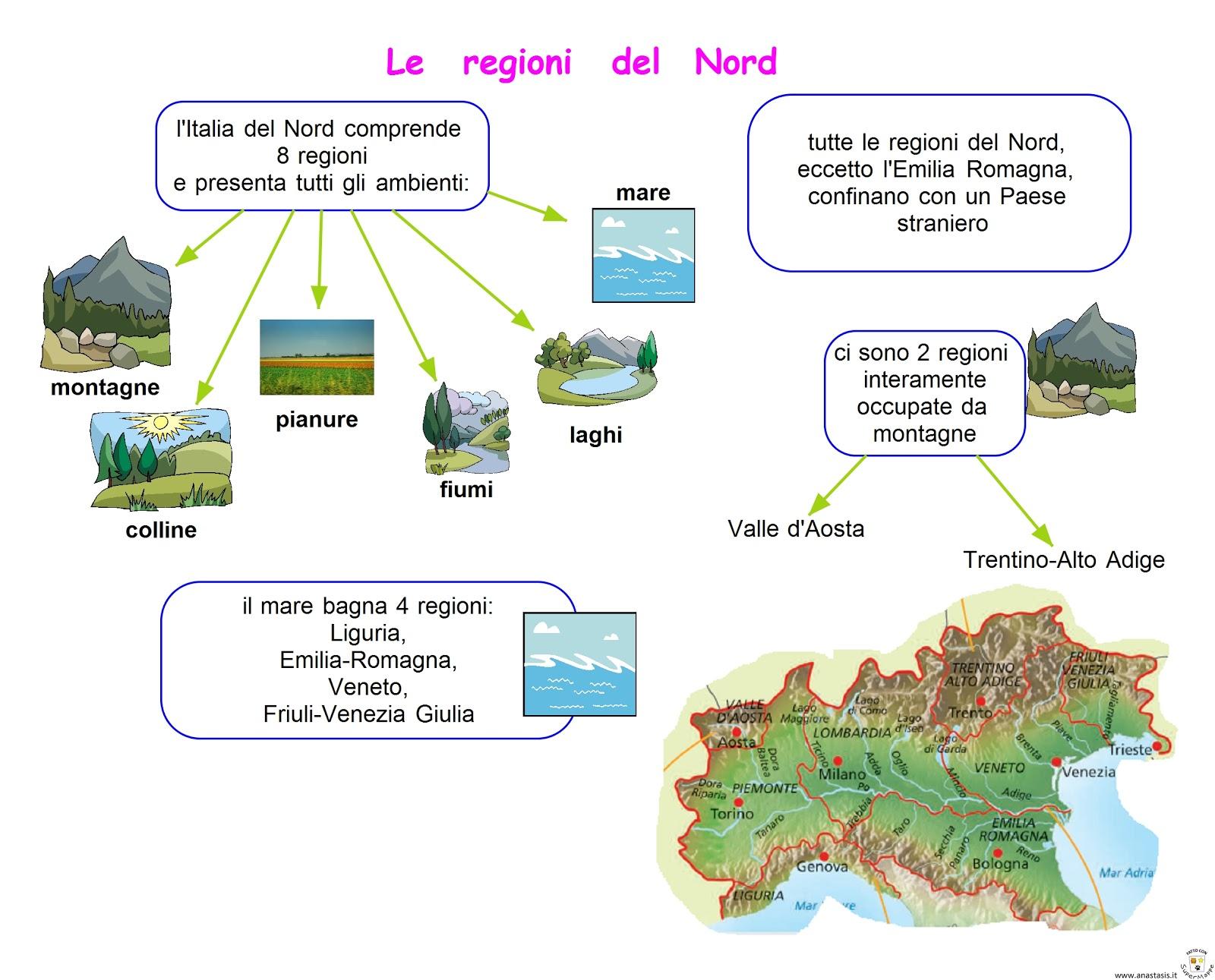 Cartina Muta Regioni Italia Settentrionale.Le Regioni Del Nord La Lombardia Lessons Blendspace