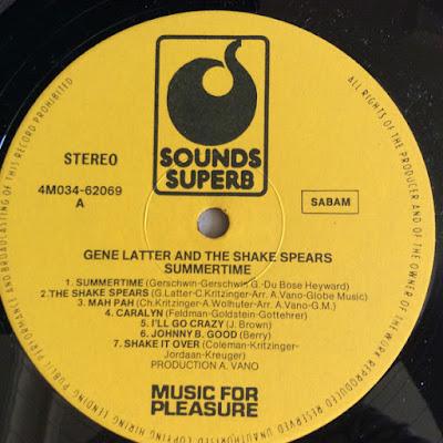 Gene Latter And The Shake Spears – Summertime (196?)