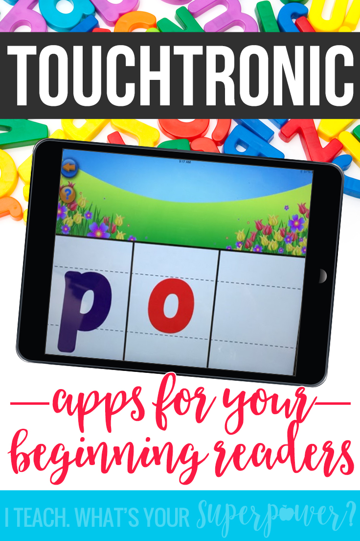 Love these for small groups and reading centers! With free apps, TouchTronic Letters are perfect for hands on learning with your beginning readers.