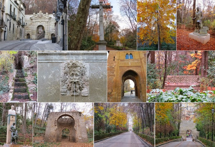 Christmas in Granada - Walking Path to the Alhambra
