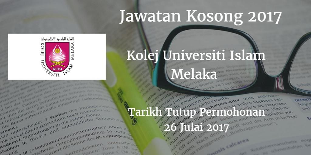 Jawatan Kosong KUIM 26 Julai 2017