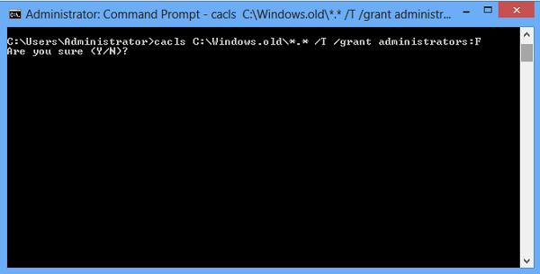 Hướng dẫn xóa thư mục Windows Old trên Windows 7/8/8.1