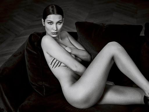 Bella Hadid naked model photo shoot for GQ UK magazine