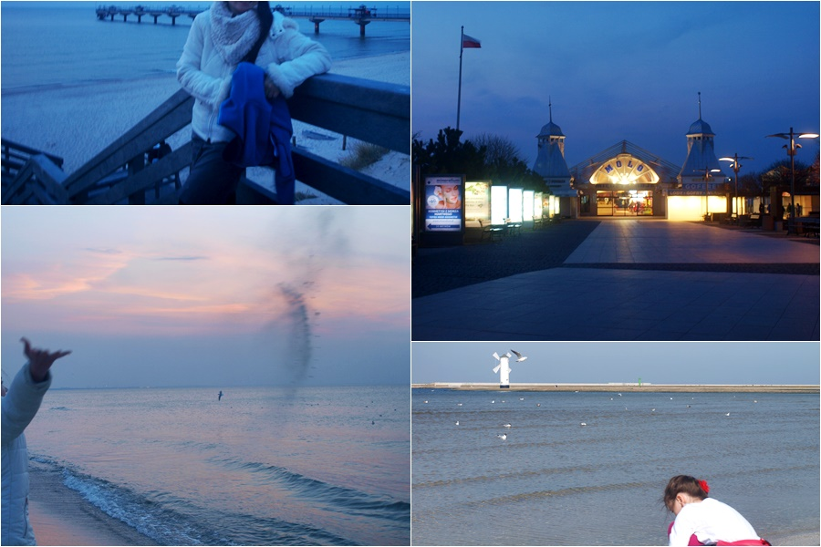 kwietniowy wieczór na plazy