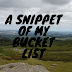 A Snippet Of My Bucket List