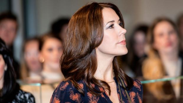 Crown Princess Mary sported Ole Yde's black and white checked jacket
