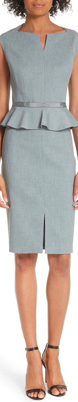 Ted Baker London Textured Peplum Dress