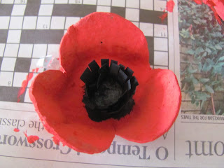egg carton poppy