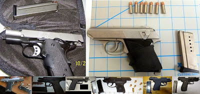 Guns Discovered at (Left to Right, Top to Bottom) MAF, PDX, ATL, FLL, FAI, GCC, MCO, ANC