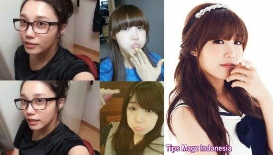 artis korea Eunji - A Pink tanpa makeup