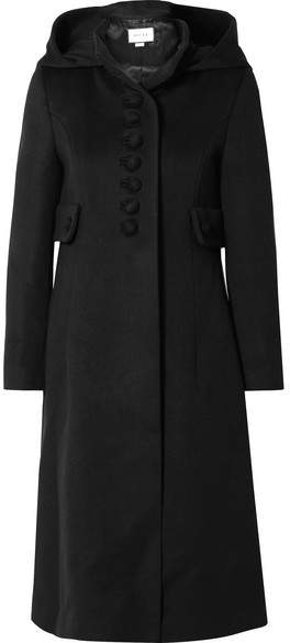 Gucci - Hooded Wool Coat – Black