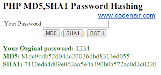 how to encrypt password in php