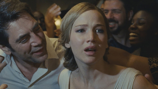 "Jennifer Lawrence and Javier Bardem in Darren Aronofsky's ""mother!"""