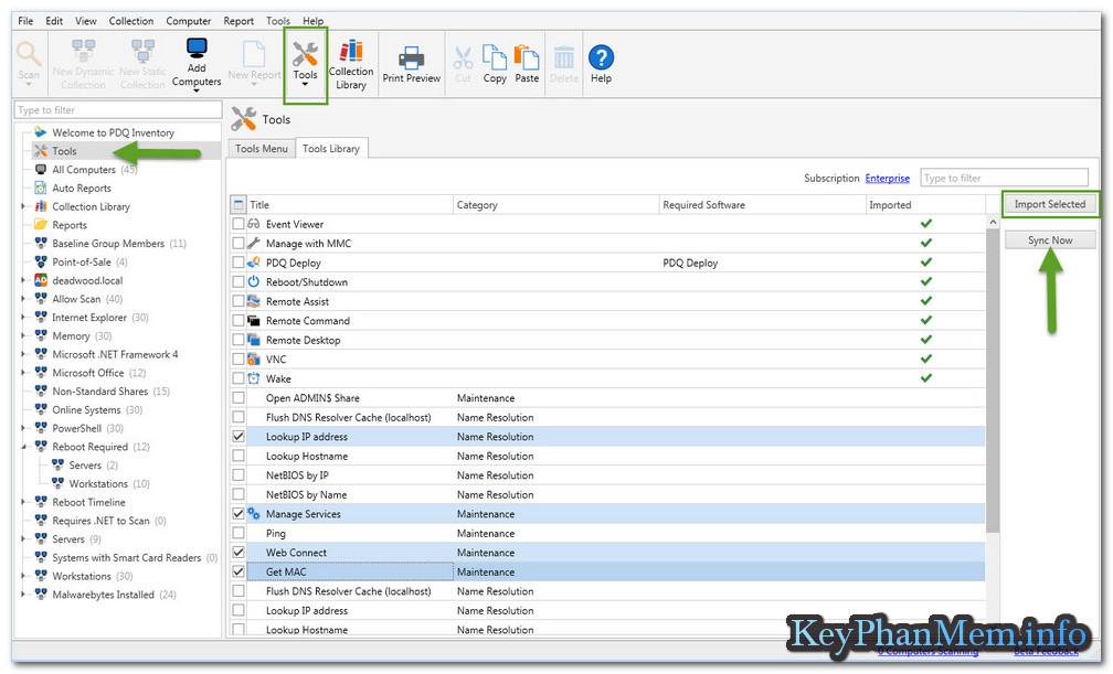 Download PDQ Inventory 15.1.0.0 Full Key, Triển khai phầm mềm trong hệ thống từ xa