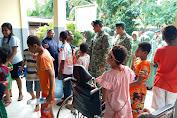 Yonif 755 Kostrad Berikan Santunan Terhadap Anak Cacat Disabilitas di Merauke