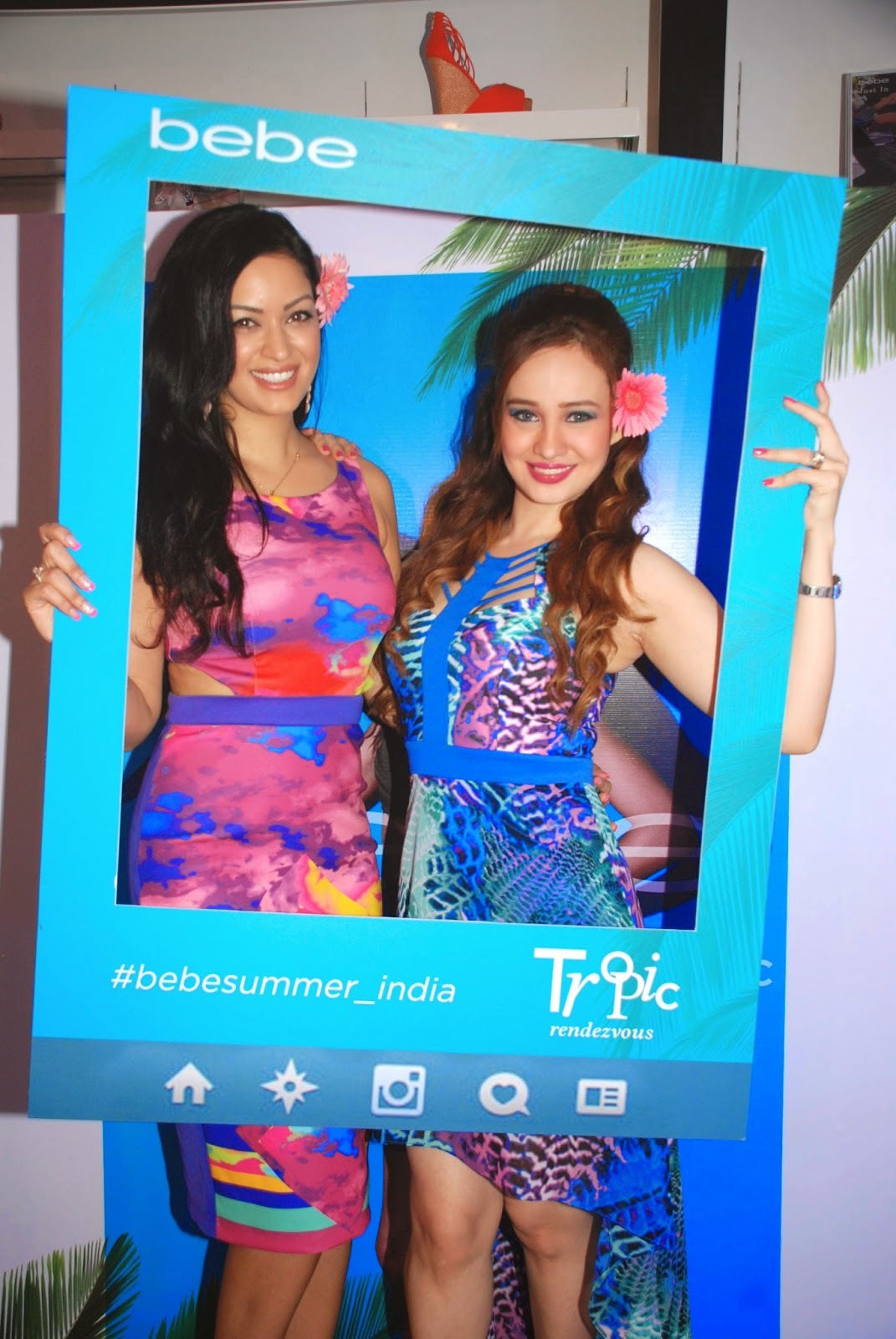 Maryam Zakaria & Stephanie Timmins at the Bebe Tropic Rendezvous Event, Mumbai
