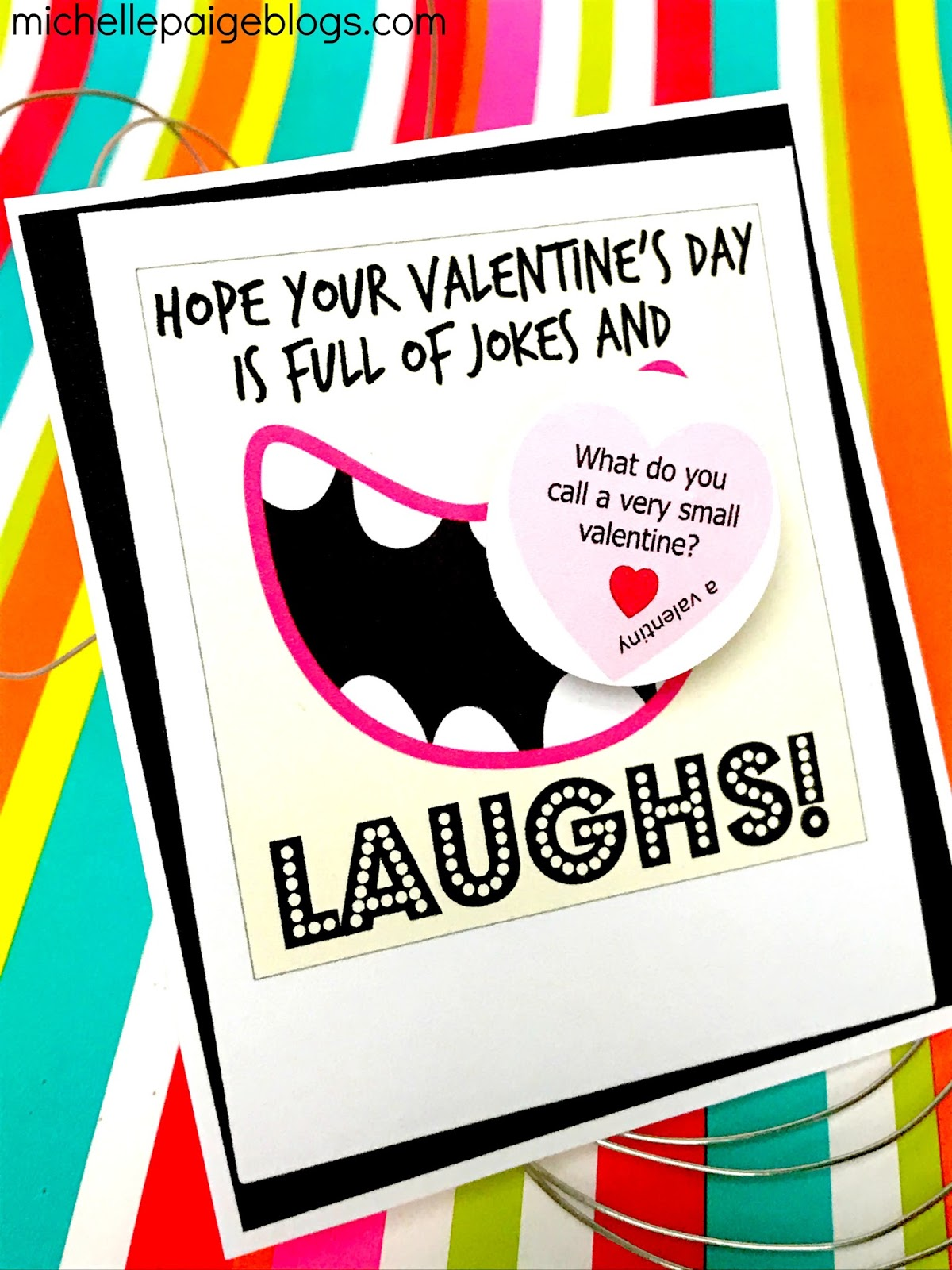 Michelle Paige Blogs Printable Joke Laugh Valentines