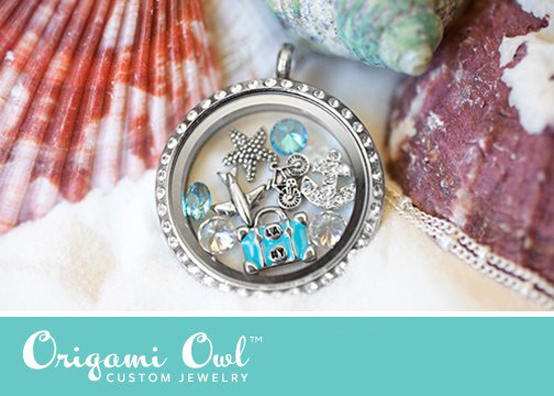Love the Beach Origami Owl Living Locket