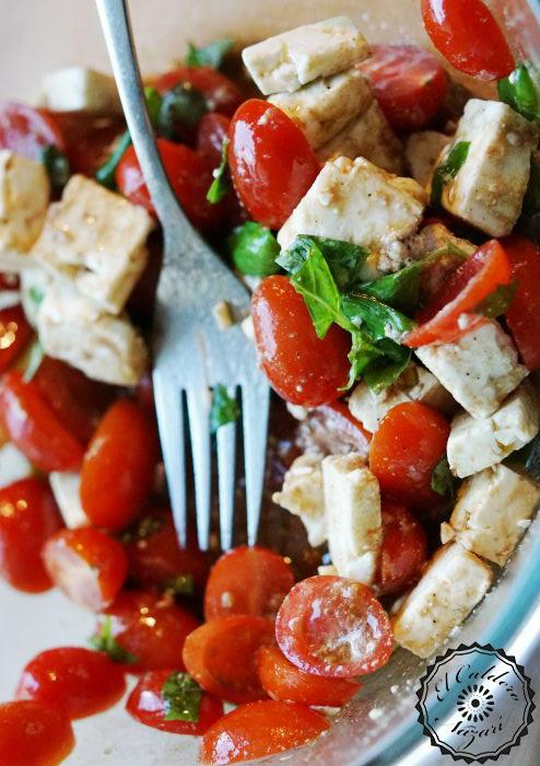 Elcalderonazari ensalada agridulce con queso de cabra - Beneficios queso de cabra ...